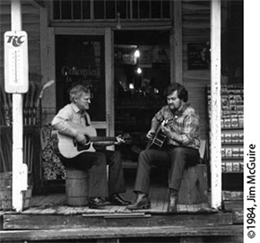Doc and Merle Photo, 1984. Photo courtesy of Jim McGuire